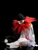 Deprimiertes Pierrot Lizenzfreie Stockfotografie