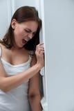 Deprimiertes schreiendes Mädchen Lizenzfreies Stockfoto