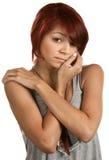 Deprimiertes weibliches jugendlich Stockfotos