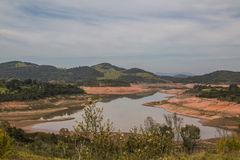 Depósito de Jaguari - sistema de Cantareira - Vargem/SP  Imagenes de archivo