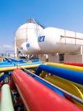 Depósitos de gas del almacenaje Foto de archivo libre de regalías