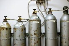 Depósitos de gas del CO2 del laboratorio Foto de archivo libre de regalías