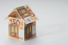 Dept. House made out of  50 Euro bills Royalty Free Stock Photo