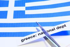 Dept cut. Symbol photo: dept cut for Greece Stock Photos