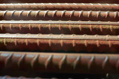 Dept of Rusty iron rod. Royalty Free Stock Images