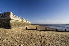 Deptak ściana przy morzem, Essex, Anglia Zdjęcie Stock