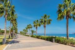 Deptak aleja w Limassol, Cypr fotografia royalty free