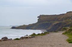 Deptak blisko nadbrzeża przy Wimereux, Pas de Calais, Francja Fotografia Royalty Free