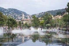 Deptak Du Paillon w Ładnym, Francja Zdjęcia Royalty Free