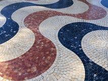 Deptak Explanada główny i sławny turystyczny uliczny Alicante obrazy stock