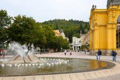 Deptak, kolumnada i fontanna, obrazy royalty free