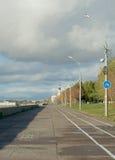 Deptak przy Północna Dvina rzeka, Arkhangelsk, Rosja Obrazy Stock
