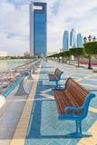 Deptak przy Perską zatoką w Abu Dhabi Fotografia Stock