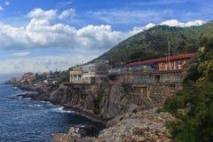 Deptak w Genova Nervi zdjęcie stock