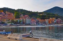 Deptak w jeden miasteczka wyspa Elba Fotografia Stock