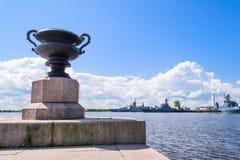 Deptak w Kronstadt, St Petersburg Zdjęcie Royalty Free