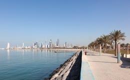 Deptak w Kuwejt mieście Zdjęcie Royalty Free