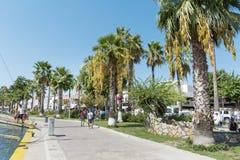 Deptak wzdłuż morza w Bodrum, Turcja Obrazy Royalty Free
