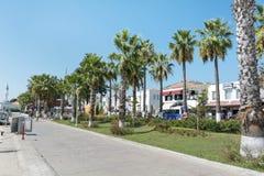 Deptak wzdłuż morza w Bodrum, Turcja Obrazy Stock