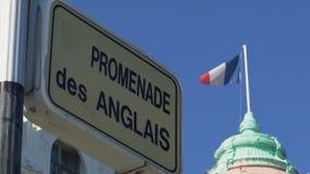 Deptaka des Anglais, sławna ulica wzdłuż morza śródziemnomorskiego w Ładnym, Francja zbiory