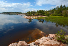 Depth. Small bay on one of islands of Ladoga lake Royalty Free Stock Photos