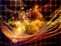 Depth of Abstract Visualization Royalty Free Stock Photos