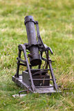 Depth-charge mortar. Old mortar on the grass Royalty Free Stock Image