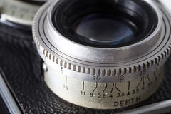Depth of field of old camera Royalty Free Stock Photos