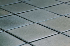 Depth of field Tile Pavement. Royalty Free Stock Photography