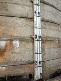 Depth Gauge on Old Water Reservoir Royalty Free Stock Image