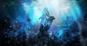 The depth of sea water, the underwater worldDepth of sea water, the bottom of the sea vector illustration