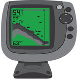The depth sounder. The figure shows the depth sounder Stock Photography