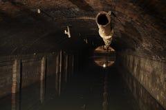 Depuradora de aguas residuales  Fotos de archivo