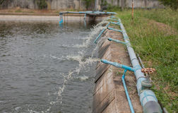 Depuradora de aguas residuales  Fotografía de archivo libre de regalías