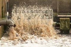 Depuradora de aguas residuales. Imagen de archivo libre de regalías