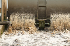 Depuradora de aguas residuales. Foto de archivo libre de regalías
