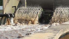 Depuradora de aguas residuales con el sonido registrado de alta calidad almacen de metraje de vídeo