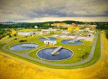 Depuradora de aguas residuales pública Fotografía de archivo