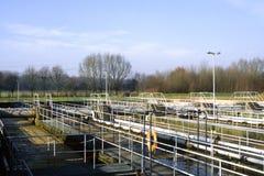 Depuratore di acqua della fabbrica in Germania immagine stock