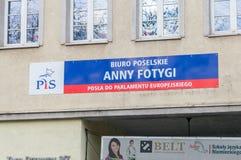 Deputies office of polish Member of european parliament Anna Fotyga. Member of polish political royalty free stock image