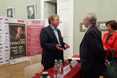 Deputy artistic director of St. Petersburg Philharmonic hall Nikolay Alekseev Royalty Free Stock Photos