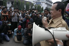 Deputy mayor solo, Purnomo Achmad Convey oration Stock Photography