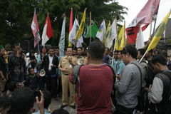 Deputy mayor solo, Purnomo Achmad Convey oration Stock Photo