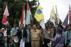 Deputy mayor solo, Purnomo Achmad Convey oration Stock Photos