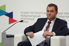 Deputy Minister of Culture of Russian Federation Grigory Pirumov Royalty Free Stock Photography