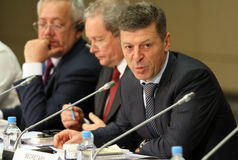 Deputy Prime Minister of the RF mr.Dmitry Kozak Stock Photos