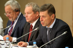 Deputy Prime Minister of the RF mr.Dmitry Kozak Royalty Free Stock Photos