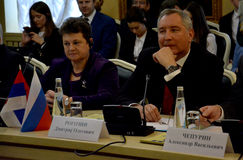Deputy Prime Minister of Russia, Dmitry Rogozin. Suzdal, Russian Federation. November 3rd 2016 - Deputy Prime Minister of Russia, Dmitry Rogozin Royalty Free Stock Photography