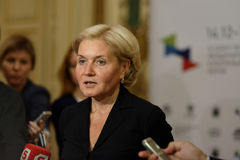 Deputy Prime Minister of Russian Federation Olga Golodets Stock Image