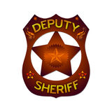 Deputy Sheriff abstract badge. Isolated against the white Royalty Free Stock Photography